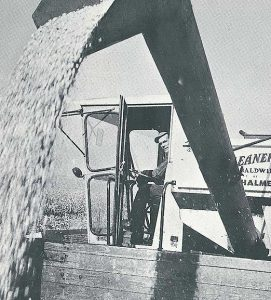 This farm photo is during harvest in 1964. Photo: Illinois Soybean Association