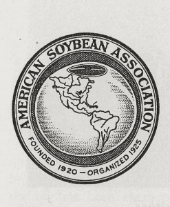 After the organization's name was changed to American Soybean Association in 1925, this first logo was created.