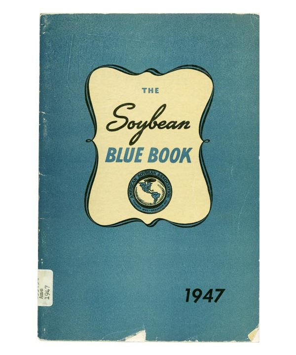 The cover of the first issue of ASA's annual publication, Soybean Blue Book.